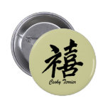happiness Cesky Terrier Buttons