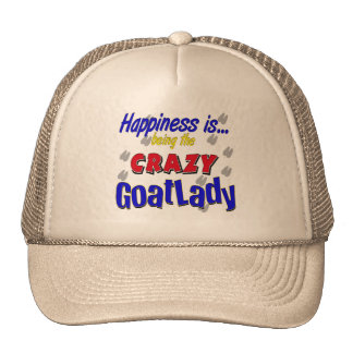 Happiness Crazy Goatlady Cap