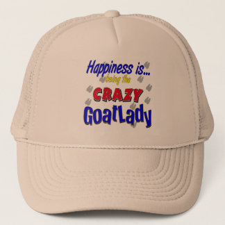 Happiness Crazy Goatlady Trucker Hat
