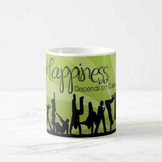 Happiness Depends Inspirational Mug