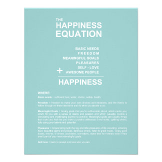 Happiness Equation Announcements