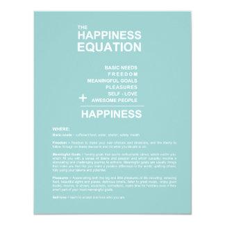 Happiness Equation 11 Cm X 14 Cm Invitation Card