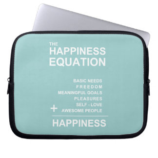 Happiness Equation Laptop Sleeve
