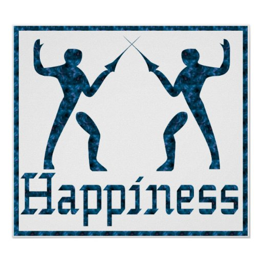 Happiness: Fencing Poster