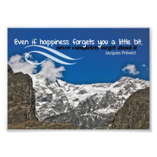 Happiness Forgets Custom Photo Print