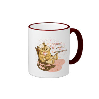 Happiness Grandma Ringer Mug