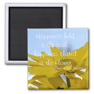 Happiness Held is the Seed Square Magnet