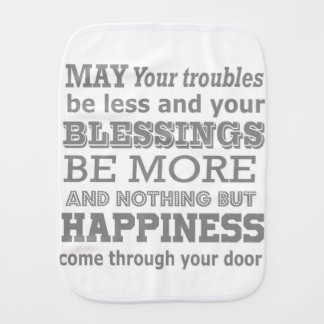 Happiness Home Quote Burp Cloth
