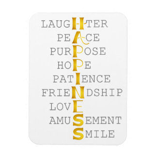 HAPPINESS in Gold Lettering Magnet