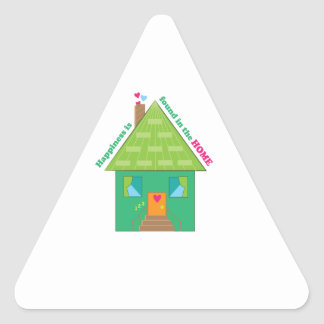 Happiness In Home Triangle Sticker