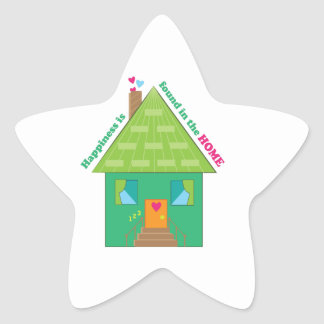Happiness In Home Star Sticker