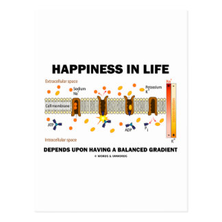 Happiness In Life Depends Upon Balanced Gradient Postcards