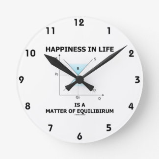 Happiness In Life Is A Matter Of Equilibrium Clock