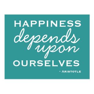 Happiness Inspiration -  Motivational Postcard