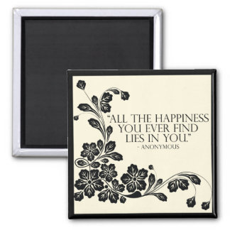 'Happiness' inspirational quote magnet