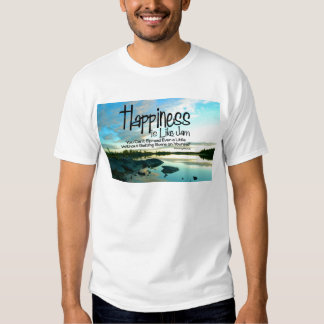 Happiness Inspirational Quote T-shirt
