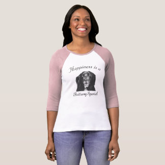 Happiness is a Brittany Spaniel Shirt for women 2