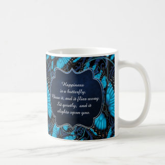 Happiness is a Butterfly: Blue Morpho Butterfly Coffee Mug