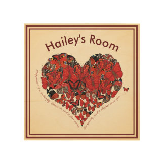 Happiness is a Butterfly Customized Wood Wall Decor