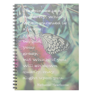 Happiness is a Butterfly - Inspiring Quote Notebook