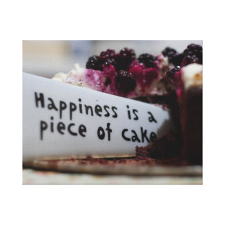 Happiness is A cake Canvas Print