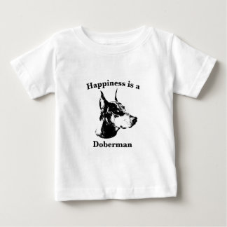 Happiness is a Doberman Baby T-Shirt