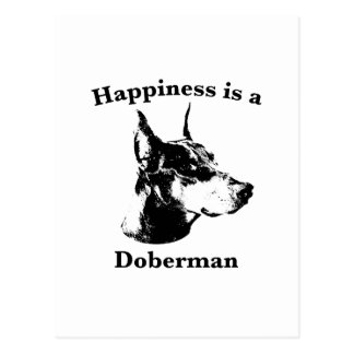 Happiness is a Doberman Postcard