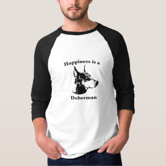 Happiness is a Doberman T-Shirt