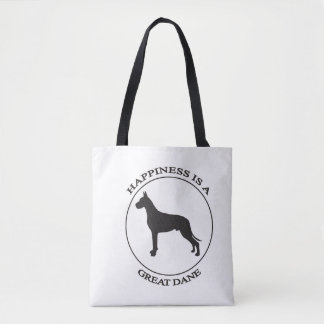 Happiness is a Great Dane Tote Bag