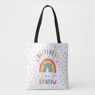 Happiness is a Rainbow Tote Bag