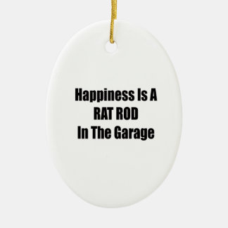 Happiness Is A Rat Rod In The Garage Christmas Ornament