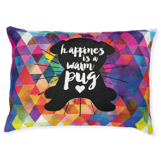 Happiness Is A Warm Pug Colourful Dog Pet
