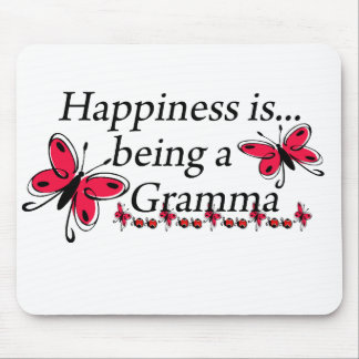 Happiness Is Being A Gramma BUTTERFLY Mouse Pad