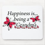 Happiness Is Being A Grandma BUTTERFLY Mouse Pads