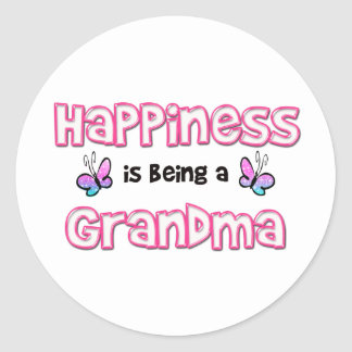 Happiness Is Being A Grandma Classic Round Sticker