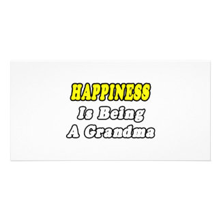 Happiness Is Being a Grandma Custom Photo Card