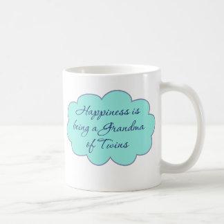 Happiness is Being a Grandma of Twins Coffee Mug