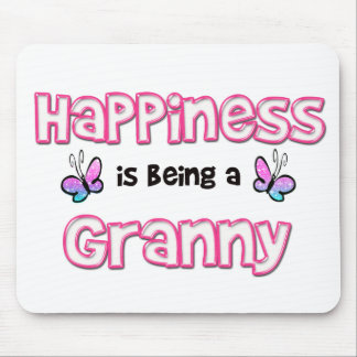 Happiness Is Being A Granny Mouse Mat