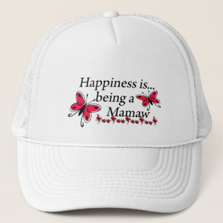 Happiness Is Being A Mamaw BUTTERFLY Trucker Hat