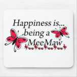 Happiness Is Being A MeeMaw BUTTERFLY Mouse Pad