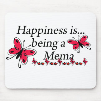 Happiness Is Being A Mema BUTTERFLY Mouse Pad