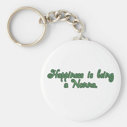 Happiness is being a Nonna Basic Round Button Key Ring