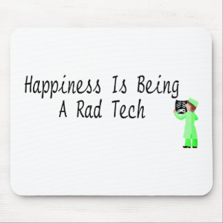 Happiness Is Being A Rad Tech Mouse Pad