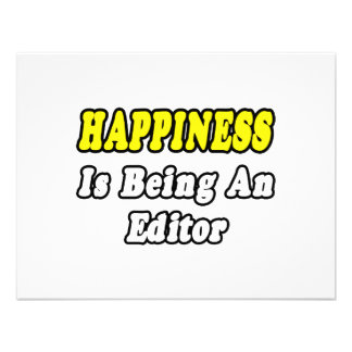 Happiness Is Being an Editor Invitations