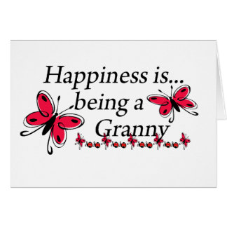 Happiness Is Being An Granny BUTTERFLY Cards