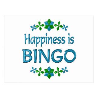 Happiness is Bingo Postcard
