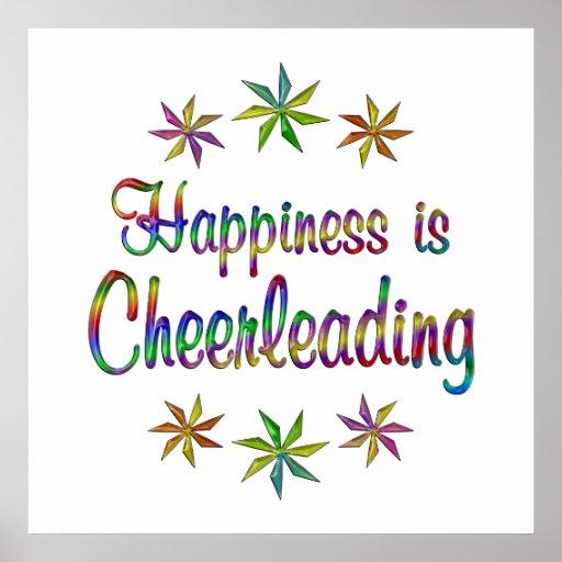 Happiness is Cheerleading Print