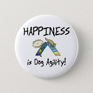Happiness is Dog Agility Button
