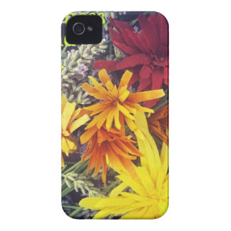 Happiness is handmade wooden flowers iPhone 4 case