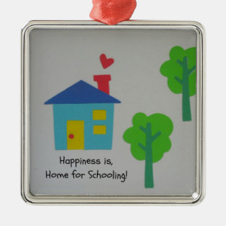 Happiness is Home for Schooling! Christmas Ornament